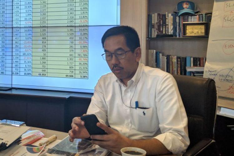 Direktur Utama PT Angkasa Pura II Muhammad Awaluddin di Gedung 600 Bandara Soekarno-Hatta, Rabu (11/3/2020)