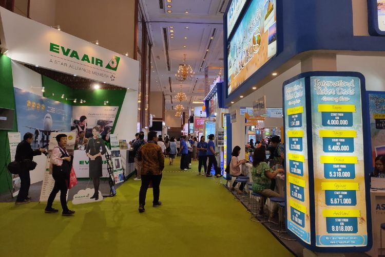 Suasana gelaran Astindo Travel Fair 2020 pada hari pertama, Jumat (21/2/2020).