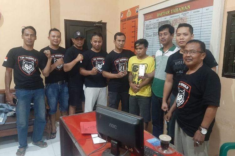 Pelaku penusukan mahasiswi Universitas Jember saat berhasil dibekuk oleh Polsek Sumbersari Kabupaten Jember