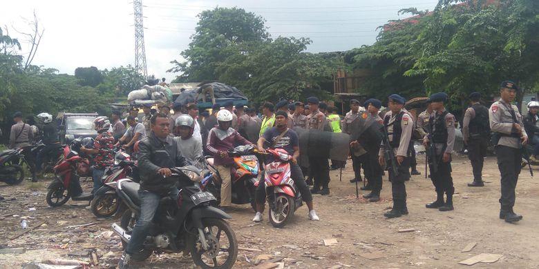 Eksekusi lahan di Pulogadung, Jakarta Timur, Senin (29/1/2018)