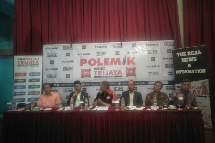 Diskusi Polemik Trijaya FM Tentang Dampak Virus Corona, di Kawasan Menteng, Jakarta Pusat, Sabtu (29/2/2020)