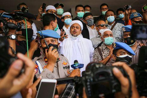 Rizieq Shihab Ditahan Usai Jalani Pemeriksaan 10 Jam