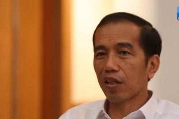 Jokowi saat diwawancarai Kompas, Selasa (14/10/2014).