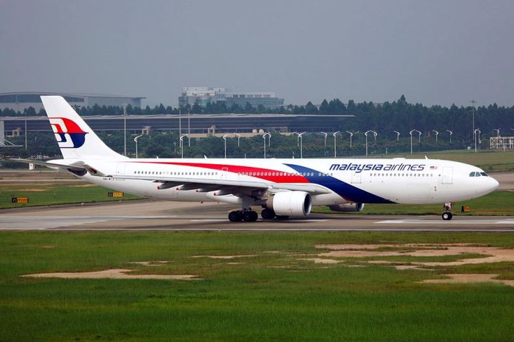 Sebuah Airbus A330-300 milik Malaysia Airlines.