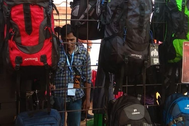 Ransel di Indonesia International Outdoor Festival 2019.