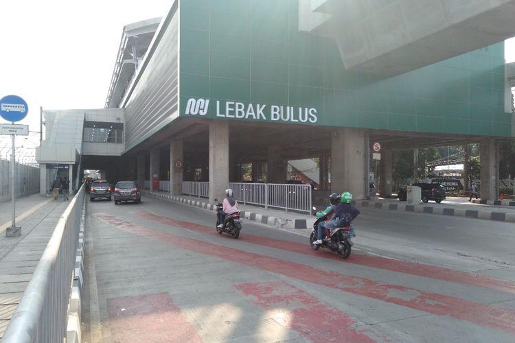 Jalur Lambat di Stasiun MRT Lebak Bulus, Jakarta Selatan, Jumat (31/5/2019)