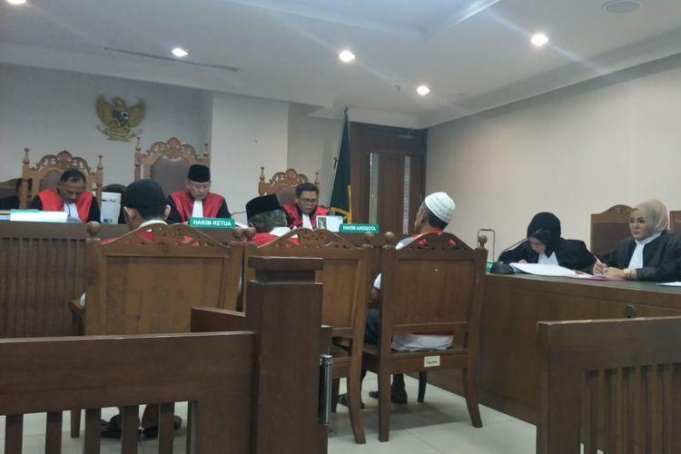 Kondisi sidang dakwaan untuk terdakwa kerusuhan 21-22 Mei di Pengadilan Negeri Jakarta Pusat, Senin (16/9/2019).