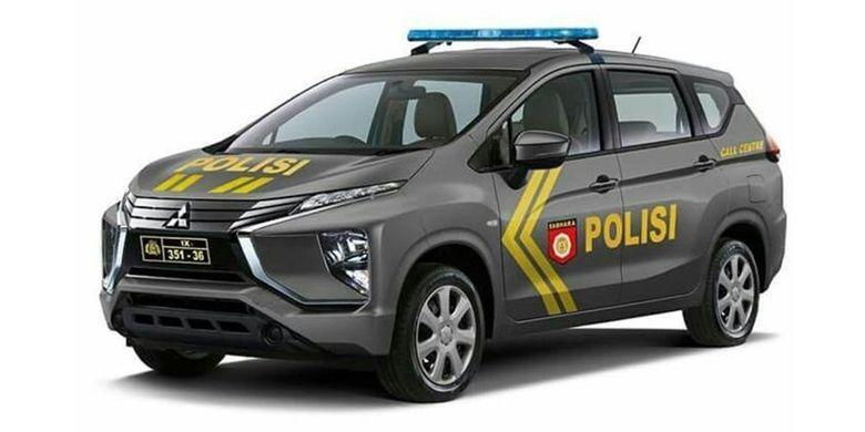 Xpander mobil patroli polisi
