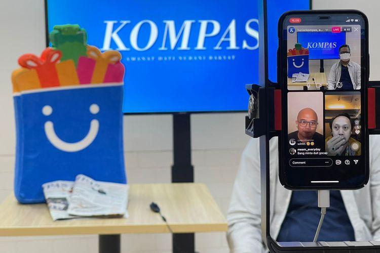 Ngulik Bisnis Bareng Blibli yang disiarkan oleh Harian Kompas secara virtual, Kamis (9/9/2021).