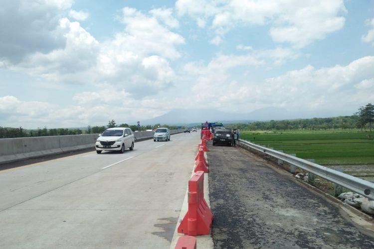 Kondisi ruas Tol Salatiga-Kartasura Km 489+500 setelah diperbaiki.