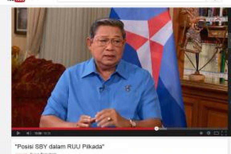 Ketua Umum Partai Demokrat Susilo Bambang Yudhoyono dalam wawancara Suara Demokrat