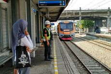 Stasiun Ancol Masih Sepi Penumpang