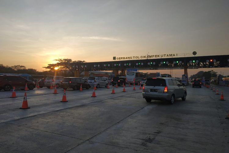 Situasi di GT Cikampek Utama, Jumat (31/5/2019).