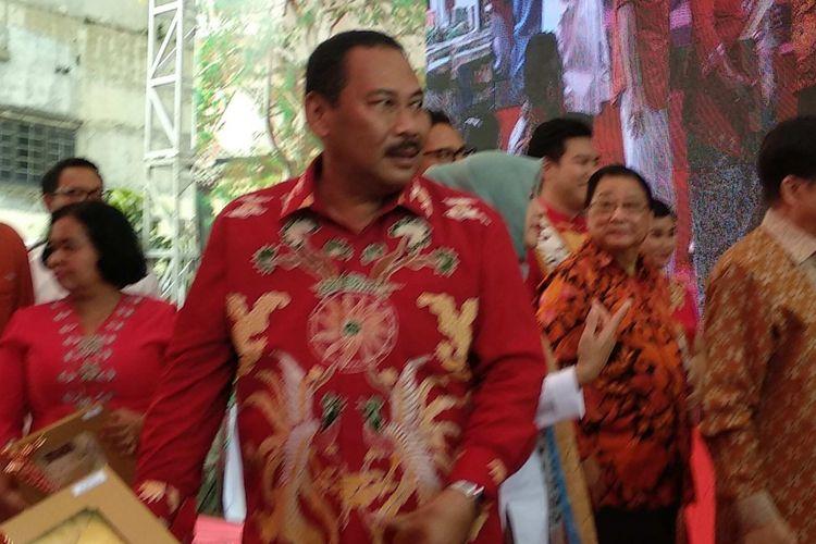 Wali Kota Jakarta Barat Anas Effendi pada acara Festival Pecinan 2018 di Glodok, Jakarta Barat, Sabtu (3/3/2018).