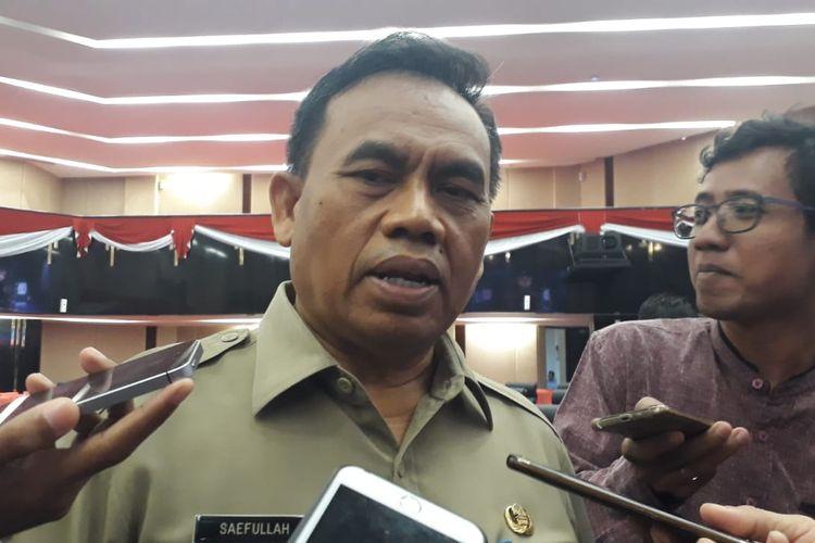 Sekretaris Daerah DKI Jakarta Saefullah di Gedung DPRD DKI Jakarta, Jalan Kebon Sirih, Jakarta Pusat, Senin (25/11/2019).