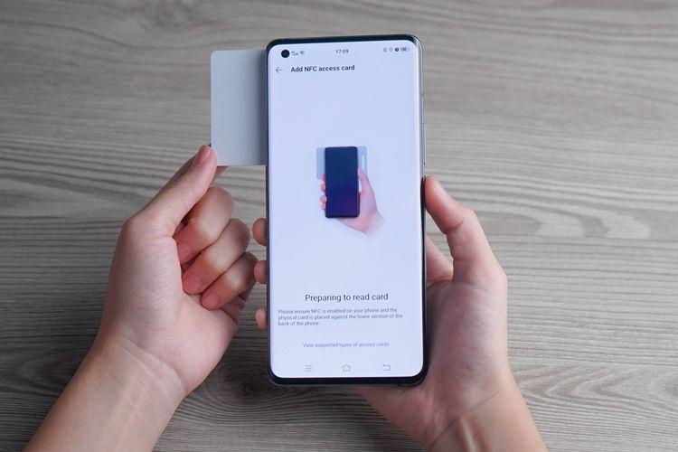 Fitur NFC di ponsel Vivo X50 Series.