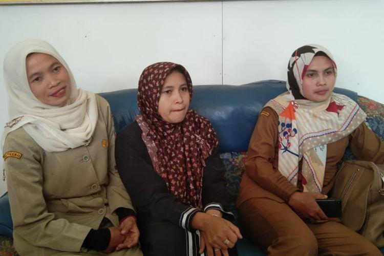 Guru-guru kelas jauh SMPN 1 Talegong saat ditemui di SDN 1 Sukamaju Selasa (20/08/2019)