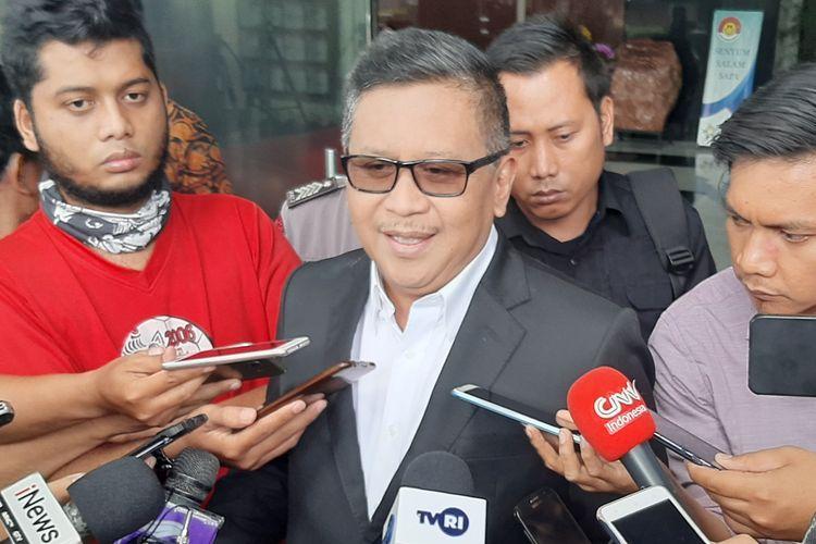 Sekretaris Jenderal PDI Perjuangan Hasto Kristiyanto di Gedung Merah Putih KPK, Rabu (26/2/2020).