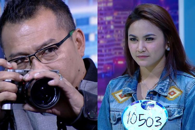 Anang Hermansyah dan kontestan Indonesian Idol X, Mahalini.
