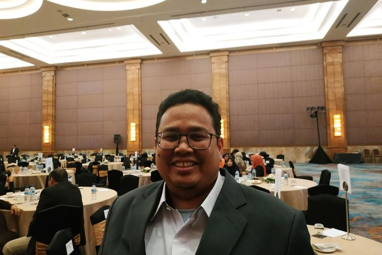 Anggota Bawaslu Rahmat Bagja di Hotel Pullman, Tanjung Duren, Jakarta Barat, Kamis (28/11/2019).