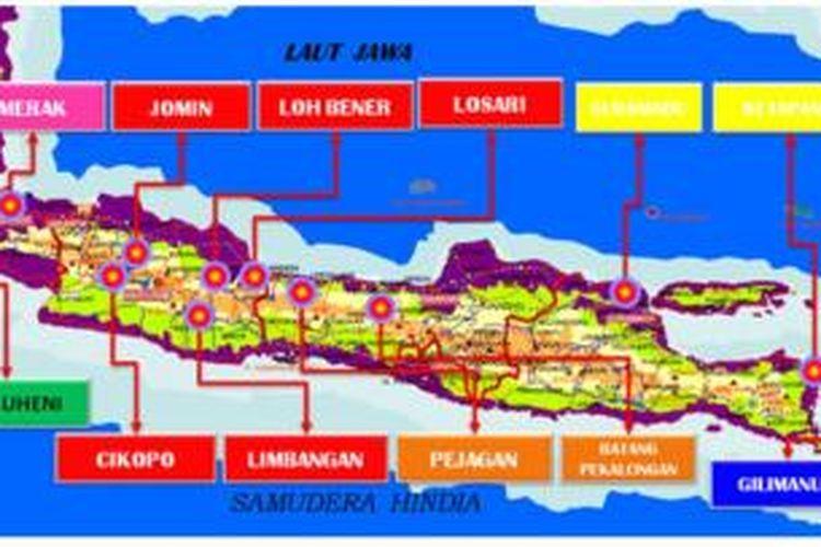 Ilustrasi jalur mudik di Pulau Jawa