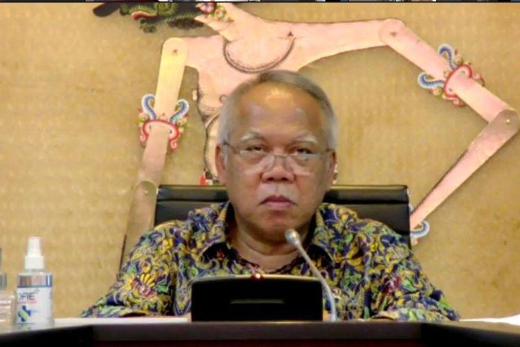 Menteri Pekerjaan Umum dan Perumahan Rakyat (PUPR) Basuki Hadimuljono mengikuti acara AWC Board of Council Meeting ke-12, Rabu (16/12/2020) petang.