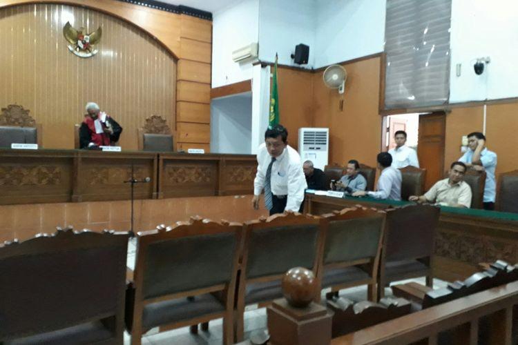 Ahli hukum pidana Abdul Chair saat bersaksi di sidang praperadilan Hary Tanoe melawan Bareskrim Polri, di PN Jakarta Selatan. Rabu (12/7/2017)