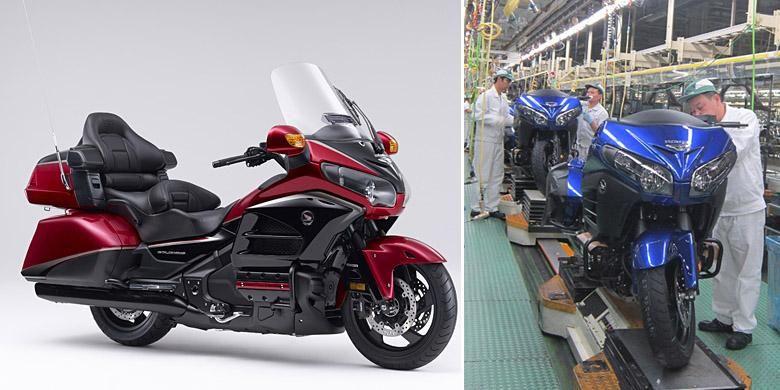 Honda Gold Wing 40th Anniversary Edition menandai produksi sepeda motor Honda 300.000.000 unit di seluruh dunia.