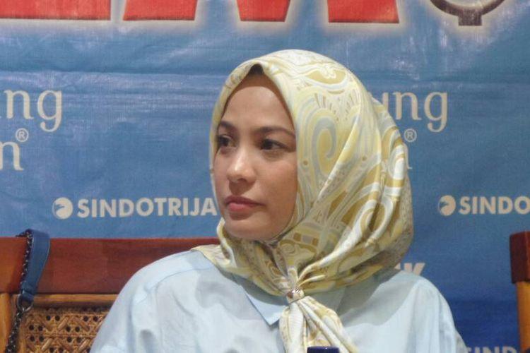 Politisi Partai Gerindra Rachel Maryam dalam sebuah acara diskusi di bilangan Cikini, Jakarta Puaat, Sabtu (22/4/2017).