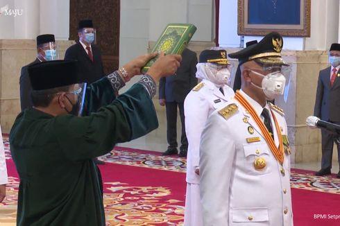 Jokowi Lantik Gubernur-Wakil Gubernur Sumbar, Kepri, dan Bengkulu