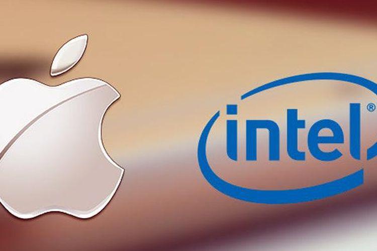 Logo Apple dan Intel
