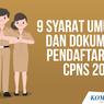 INFOGRAFIK: 9 Syarat Umum CPNS dan Dokumen yang Disiapkan