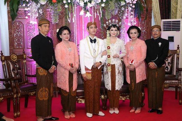 Resepsi pernikahan Gibran Rakabuming Raka pada 11 Juni 2015 di Solo, Jateng.