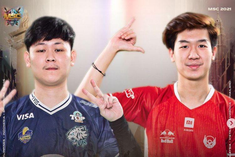 Ilustrasi perwakilan tim Evos Legends (kiri) dan Bigetron Alpha (kanan).
