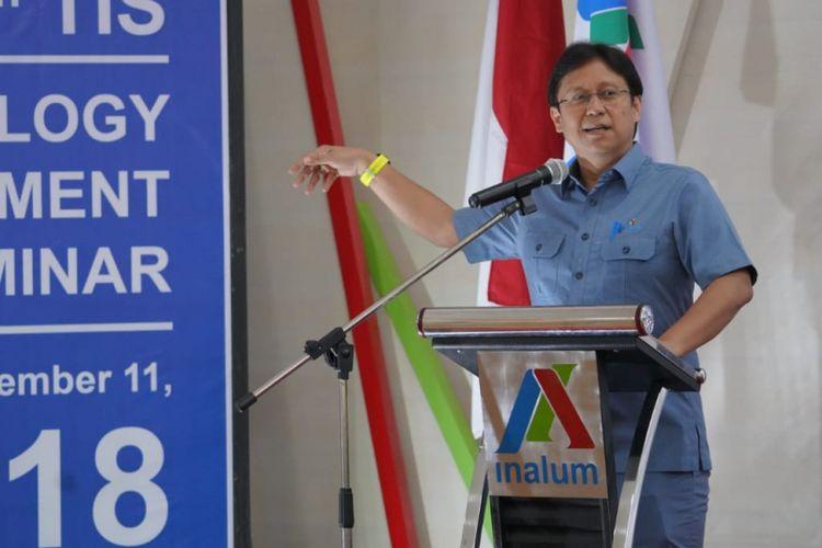 Budi Gunadi Sadikin saat membuka Technology Improvement Seminar (TIS) di Tanjung Gading.