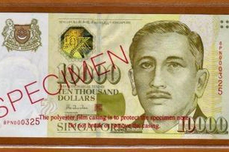 Pecahan 10.000 dollar Singapura