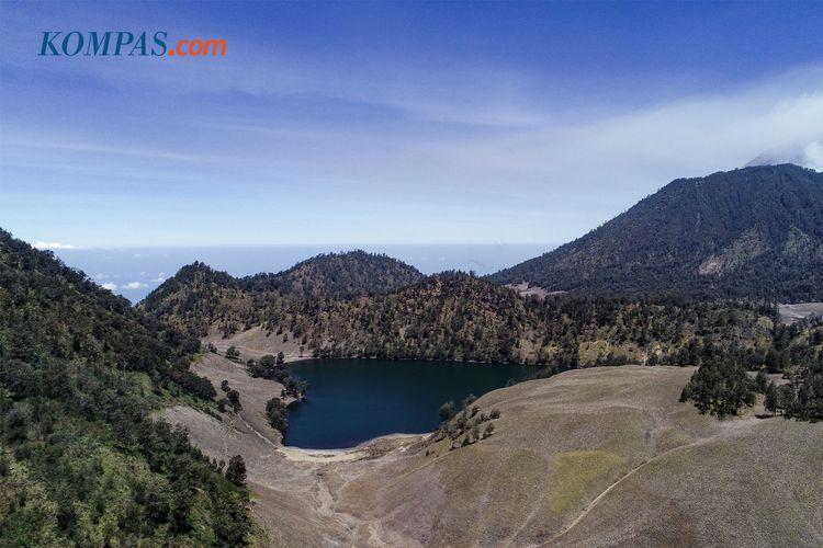 KEINDAHAN ALAM INDONESIA - Lanskap Ranu Kumbolo, Gunung Semeru, Lumajang, Jawa Timur, Kamis (19/9/2019). Ranu Kumbolo menjadi sumber air bersih bagi pendaki Gunung Semeru.