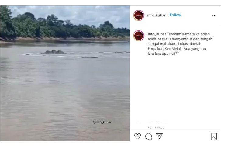 Viral video disebut semburan air di Sungai Mahakam