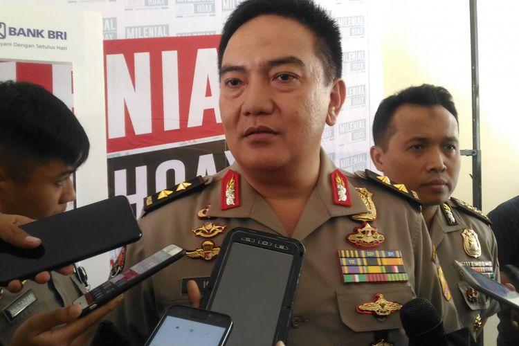 Kepala Divisi Humas Polri Irjen Muhammad Iqbal di Vokasi UI Depok, Jawa Barat, Senin (4/1/2019).