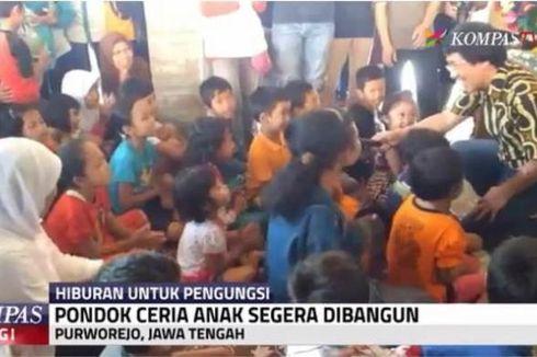 Mensos dan Kak Seto Hibur Anak-anak Korban Longsor Purworejo