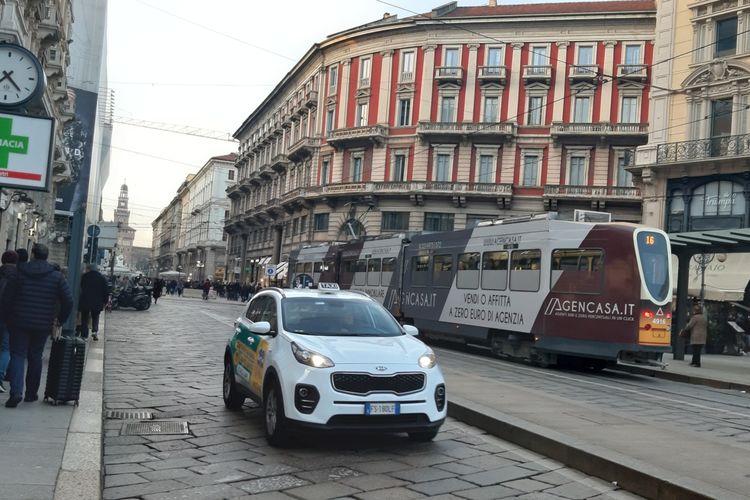 Suasana jalanan di Milan, Italia, Minggu (19/1/2020).