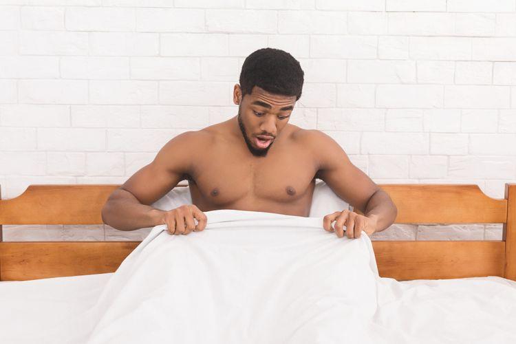 Ilustrasi penis ereksi di pagi hari.