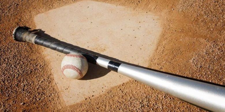 Ilustrasi bola dan pemukul bisbol