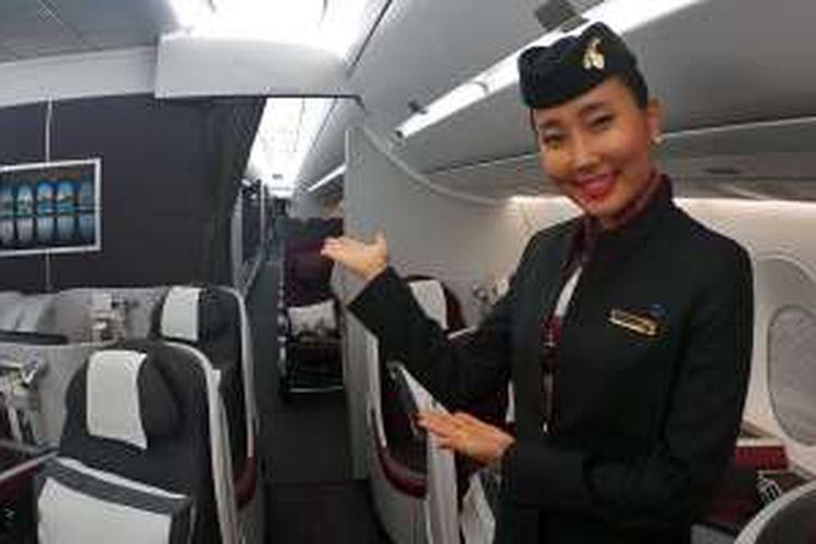 Merasakan Leganya Kabin Airbus A350 Qatar Airways Halaman