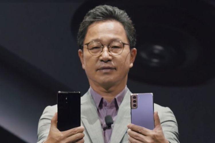 Yoonsoo Kim, Presiden Samsung Electronics Indonesia, dalam acara peluncuran Galaxy S21 5G yang digelar secara virtual, Rabu (27/1/2021).