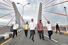 Didampingi Basuki, Jokowi Resmikan Jembatan Sei Alalak