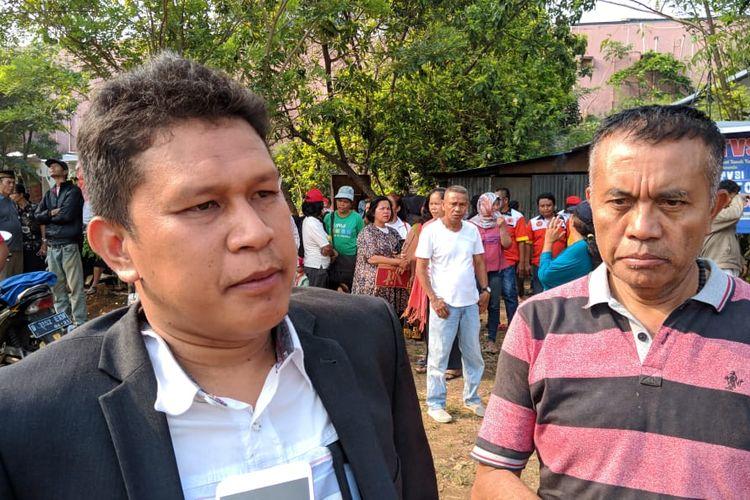 Kuasa Hukum Warga Kampung Bulak, Erham saat ditemui di Kampung Bulak, Depok, Jawa Barat, Senin (11/11/2019)