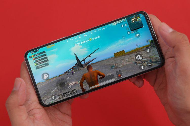 Perangkat vivo V19 saat digunakan bermain PUBG Mobile