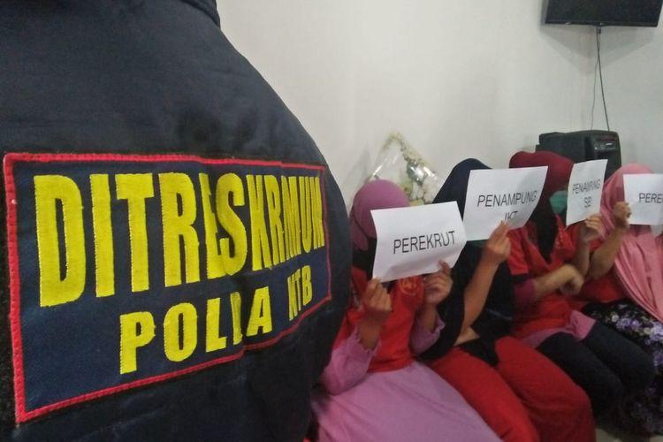 Polda NTB berhasil membekuk gembong perdagangan orang di Lombok, NTB, dan dilakukan gelar perkara pada Selasa (7/5/2019).