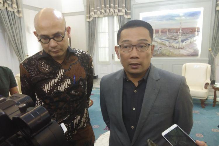 Gubernur Jawa Barat Ridwan Kamil saat ditemui di Gedung Pakuan, Jalan Otista, Kota Bandung, Selasa (11/2/2020).